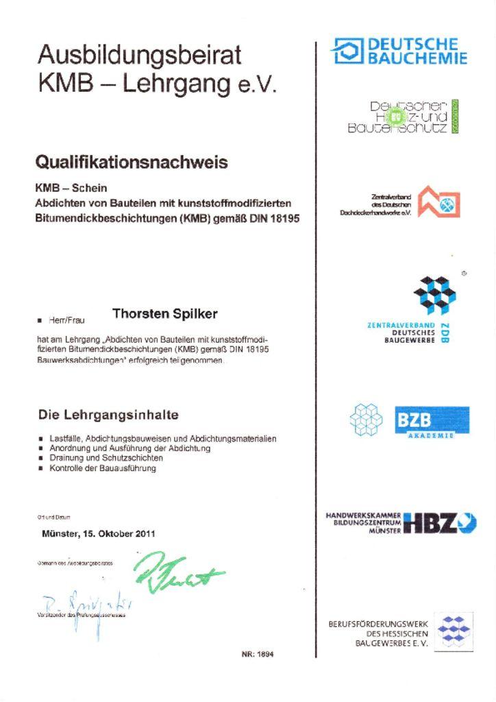 KMB Qulifikation